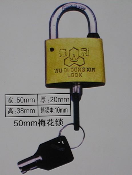 50mm梅花表箱挂锁,国网标志电力专用通用锁,一把钥匙通用锁