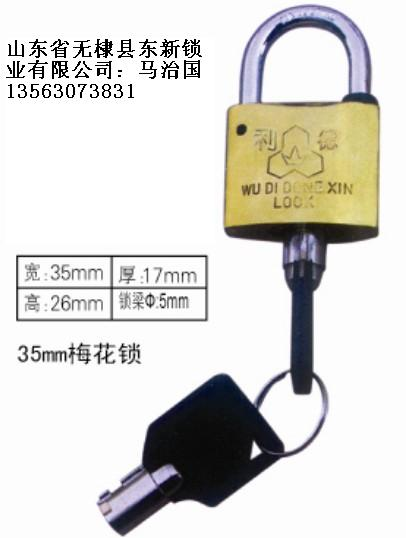 35mm梅花表箱挂锁,一把钥匙通用挂锁,一把钥匙开多把锁,铜挂锁